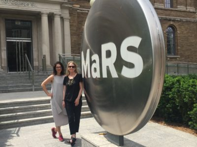 Kathryn Wortsman and Stacey Fruitman at MaRS